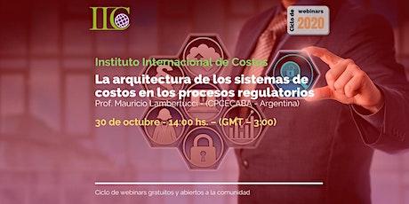 La arquitectura de los sistemas de costos en los procesos regulatorios entradas