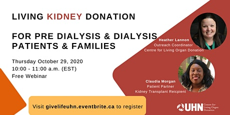 Living Kidney Donation for Pre Dialysis & Dialysis Patients & Families tickets