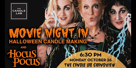 Movie-Night In: Halloween Candle Pouring & Hocus Pocus tickets
