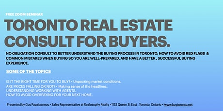 Toronto Real Estate Buyer Consult tickets