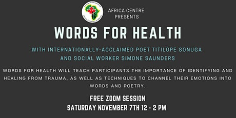 Words for Health pt.3 tickets