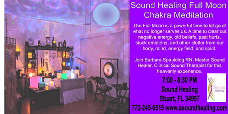 Sound Healing Full Moon Chakra Meditation tickets