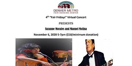 "4th ""Fair Fridays"" Virtual Concert Presents Suzanne Morales & Manuel Molina tickets"