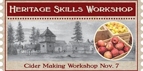 Heritage Skills Workshop: Cider Making Workshop tickets