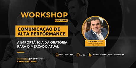 WORKSHOP DE ORATÓRIA ingressos