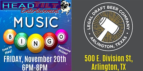 Music Bingo at Legal Draft Beer Co tickets