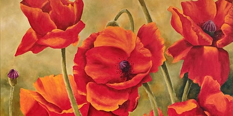 Acrylic Painting - Poppy DAY, with Kelly Maw tickets