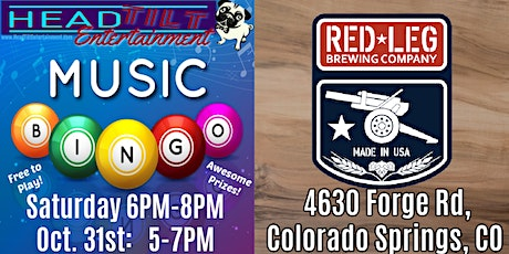 Music Bingo at Red Leg Brewing Company tickets