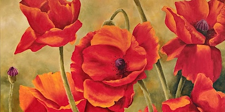 Acrylic Painting - Poppy EVENING, with Kelly Maw tickets
