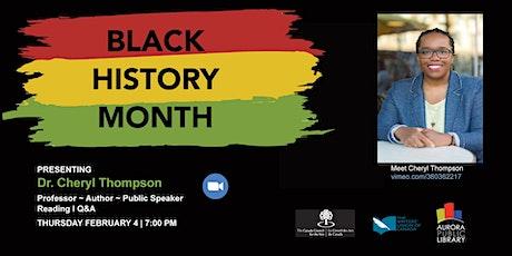 BLACK HISTORY MONTH: Cheryl Thompson Author Visit tickets