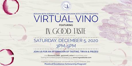 Virtual Vino ft. In Good Taste Wines tickets