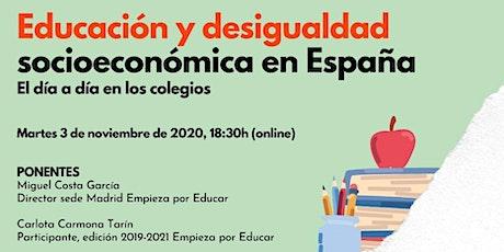 Educación y desigualdad socioeconómica en España entradas
