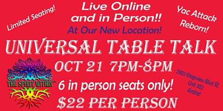 Universal Table Talk LIVE tickets