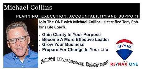 Join The ONE with Michael Collins- a certified Tony Robbins Life Coach. tickets