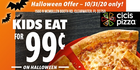 Kids Eat for ONLY $0.99 on Halloween at Cicis (Or FREE With Costume!) tickets