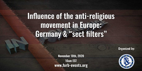 """""""Influence of anti-religious movement in Europe: Germany & sect filters"""" tickets"""