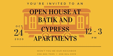 Batik and Cypress Open House tickets