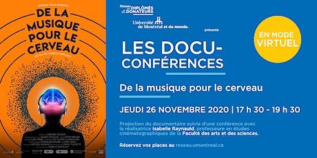 LES DOCU-CONFÉRENCES | Avec Isabelle Raynauld et Isabelle Peretz billets