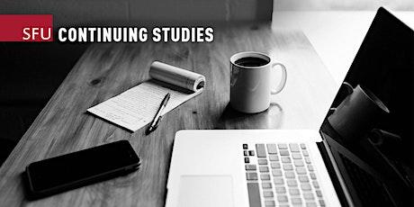 The Writer's Studio Online Information Session — May 29, 2021 biglietti