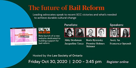 The Future of Bail Reform tickets