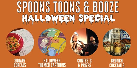 Spoons, Toons & Booze :Halloween Special tickets
