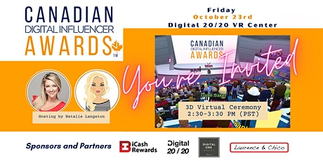 Canadian Digital Influencers Awards (3D Virtual Ceremony) tickets