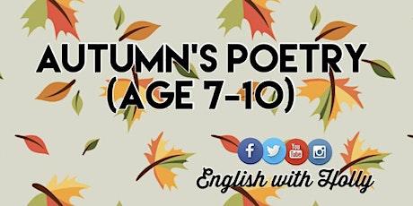 Autumn's Poetry Course (1/2/3 Nov) biglietti