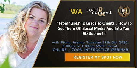 'Likes' - Leads - Clients... Get Them Off Social & Into Your Biz Sooner tickets