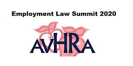 AVHRA's  Employment Law Summit 2020 tickets