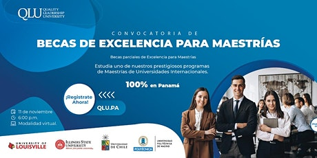 Convocatoria de Becas para Maestrías - 100% en Panamá boletos