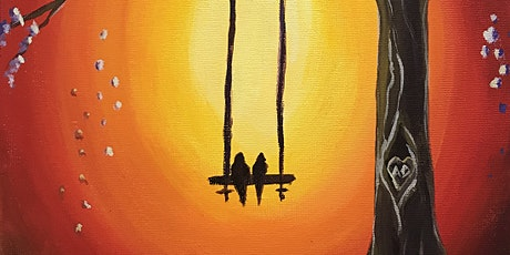 "Painting & Brews - ""Love Birds on a Swing"" tickets"