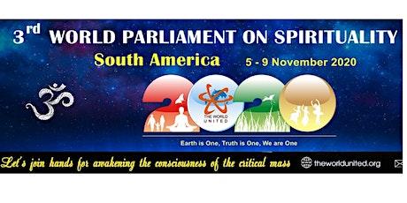 3o. WORLD PARLIAMENT ON SPIRITUALITY - SOUTH AMERI bilhetes
