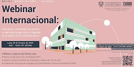 Agricultura integrada en el edificio ICTA-UAB, Barcelona entradas