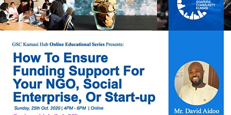 How To Ensure Funding Support For Your NGO, Social Enterprise, Or Start-up tickets