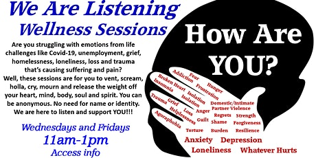 SISFI's How Are You? We Are Listening Emotional Wellness Sessions tickets
