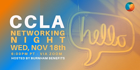 CCLA Community Networking Night - hosted by Burnham Benefits