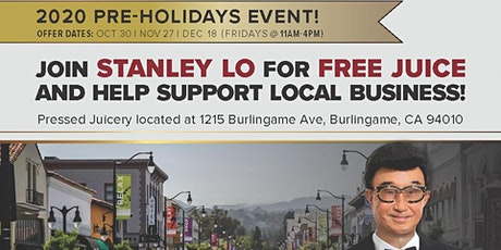 Stanley Lo and Pressed Juicery FREE Juices tickets