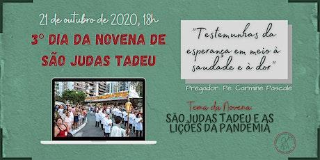 3º Dia da Novena de São Judas Tadeu | QUARTA-FEIRA, 21/10 - 18h ingressos