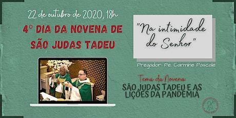 4º Dia da Novena de São Judas Tadeu | QUINTA-FEIRA, 22/10 - 18h ingressos