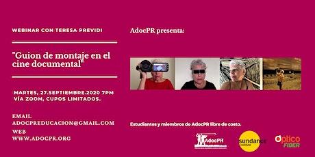 AdocPR Webinar por la cineasta Teresa Previdi entradas