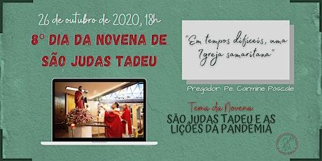 8º Dia da Novena de São Judas Tadeu | SEGUNDA-FEIRA, 26/10 - 18h ingressos