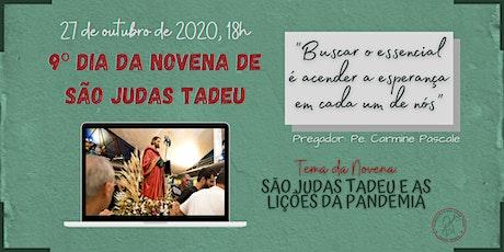 9º Dia da Novena de São Judas Tadeu | TERÇA-FEIRA, 27/10 - 18h ingressos