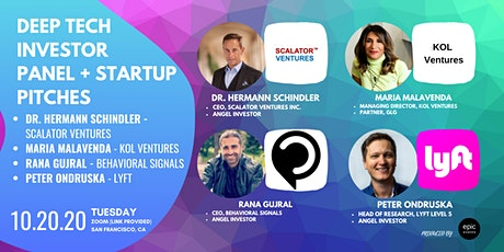 Deep Tech Investor Panel +  Startup Pitches (On Zoom) tickets