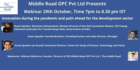 Innovation during the pandemic and path ahead for the Development Sector tickets