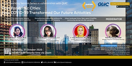 Post Pandemic Cities: How COVID-19 Transformed Our Future Activities tickets