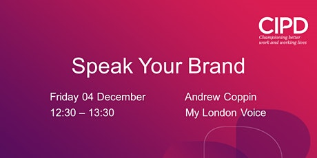 Speak Your Brand tickets