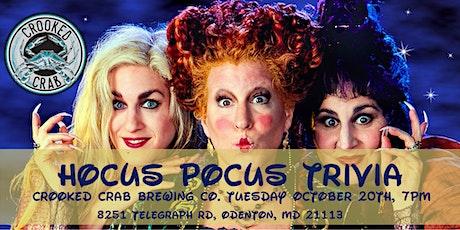 Hocus Pocus (2) Trivia at Crooked Crab Brewing Co. tickets