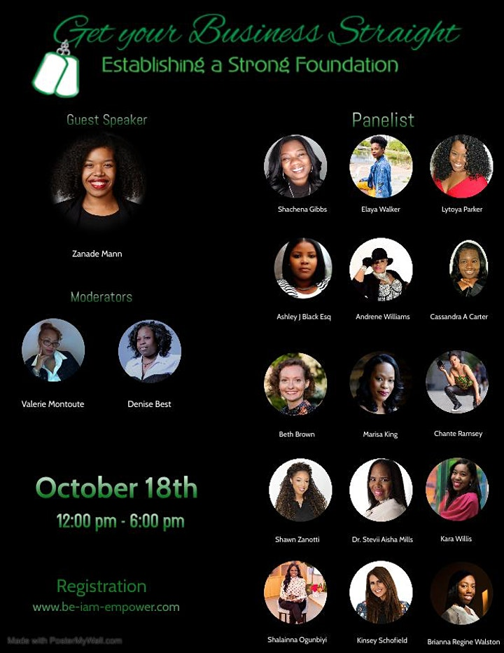 """I AM Empowerment Movement's """"Get your Business Straight"""" Virtual Boot Camp image"""
