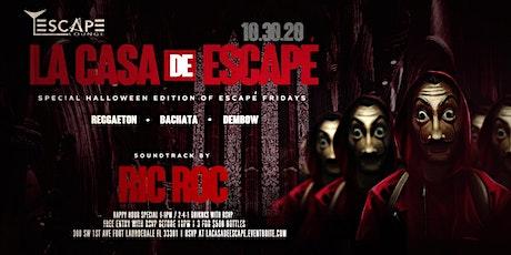 LA CASA DE ESCAPÈ    REGGAETON + BACHATA + DEMBOW tickets