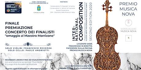 Finale e Premiazione PREMIO Musica Nova 2020 biglietti